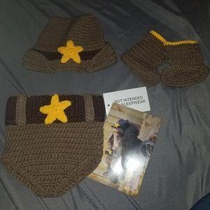 Other - SOLD Cowboy crochet set
